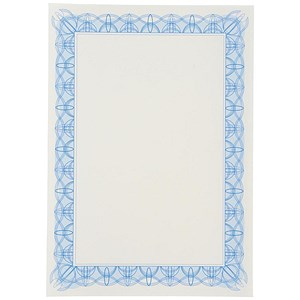 Image of A4 Certificate Papers with Foil Seals / Blue / 90gsm / Pack of 30