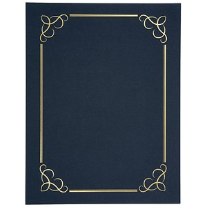 Image of Certificate Covers Linen Finish Heavyweight Card Stock / Blue / 240gsm / Pack of 5