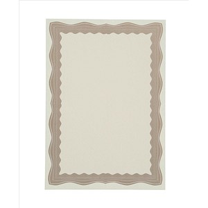 Image of A4 Certificate Papers with Foil Seals / Bronze Wave / 90gsm / Pack of 30