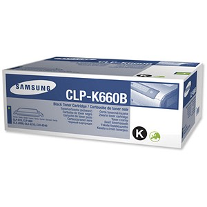 Image of Samsung CLP-K660B High Yield Black Laser Toner Cartridge