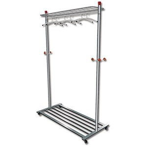 Image of Mobile Coat and Garment Rack / 4 Wheels / Capacity 40-50 Hangers