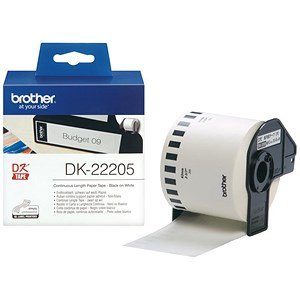 Image of Brother Label Continuous Paper Tape 62mmx30.48m White Ref DK22205