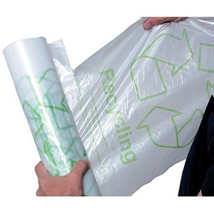 Image of 5 Star Remarkable Loop Bin Liners / Green / 60 Litre / Clear / Pack of 50