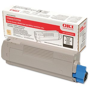 Image of Oki 43324424 Black Laser Toner Cartridge