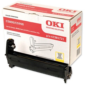 Image of Oki C5900 Yellow Image Drum