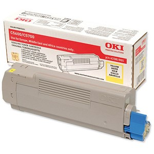 Image of Oki 43381905 Yellow Laser Toner Cartridge