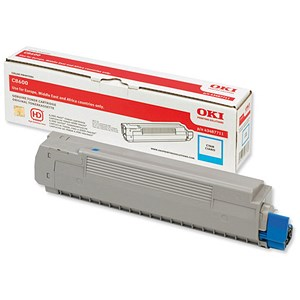Image of Oki 43487711 Cyan Laser Toner Cartridge