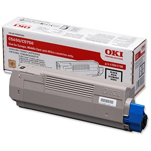 Image of Oki 43865708 Black Laser Toner Cartridge
