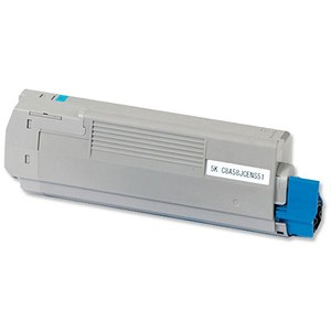 Image of Oki 43872307 Cyan Laser Toner Cartridge
