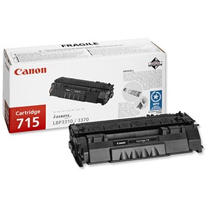 Image of Canon 715 Black Laser Toner Cartridge