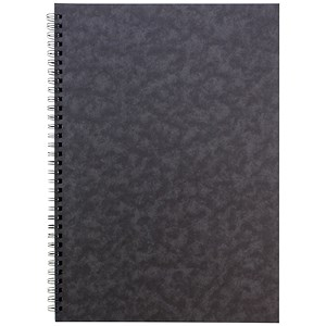 Image of Sidebound Notebook / A4 / Ruled / 120 Pages / Black / Pack of 10