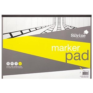 Image of Silvine Marker Pad / A3 / Bleedproof / 70gsm / 50 Sheets / White