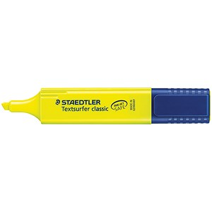 Image of Staedtler Textsurfer Classic Highlighter Inkjet Safe Line Width 1-5mm Yellow Ref 3641 [Pack 10]