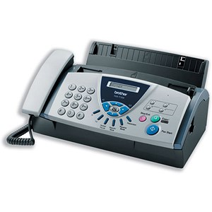 Image of Brother Thermal Fax Machine T104 9.6Kbps Modem 0.25Mb Memory 2.7Kg W302xD186xH132mm Ref FAXT104U1