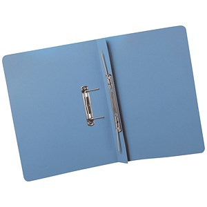 Image of 5 Star Transfer Spring Files Heavyweight 380gsm Capacity 38mm Foolscap Blue [Pack 25]