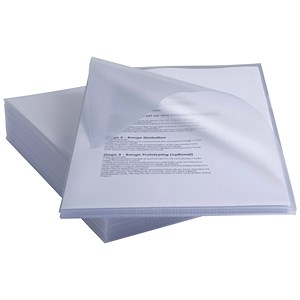 Image of Rexel Anti Slip Cut Flush Folders / Polypropylene / High Grip / 150micron / Clear / Pack of 25