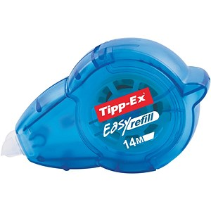 Image of Tipp-Ex Easy-refill Correction Tape Roller / 5mmx14m / Pack of 10