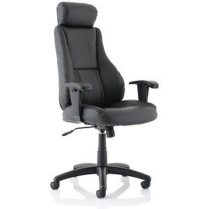 Image of Trexus Hampshire Plus Managers Armchair Headrest Back H660mm W520xD510xH470-550mm Leather Ref 10472-01