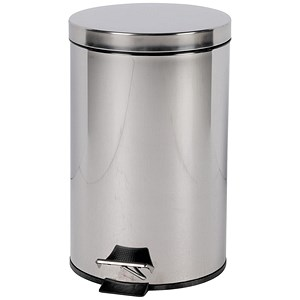 Image of Pedal Bin / Removable Plastic Liner / 12 Litre / Stainless Steel