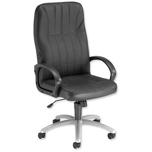 Image of Trexus Lumb-Air Executive Armchair Back H660mm W510xD460xH440-540mm Leather Ref SP9090LV