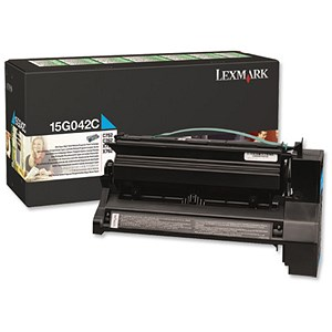Image of Lexmark 15G042C High Yield Cyan Laser Toner Cartridge