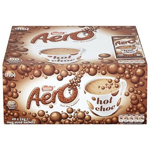 Image of Aero Hot Chocolate Drink Powder - 40 Sachets