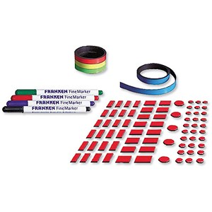 Image of Franken Planner Accessory Set - Includes Nameplates Magnetic Strips Adhesive Tape and 4 Finemarkers
