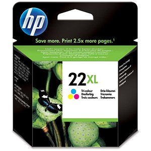 Image of HP 22XL Colour Ink Cartridge