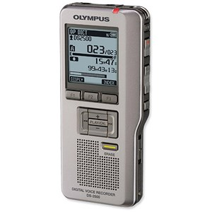 Image of Olympus DS-2500 Digital Dictation Machine DSS Pro Format USB with SD Card 2GB Records 303Hrs Ref DS2500