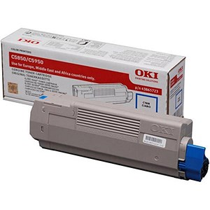 Image of Oki 43865723 Cyan Laser Toner Cartridge