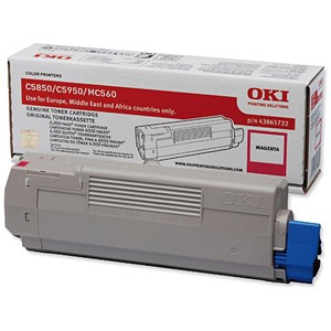 Image of Oki 43865722 Magenta Laser Toner Cartridge