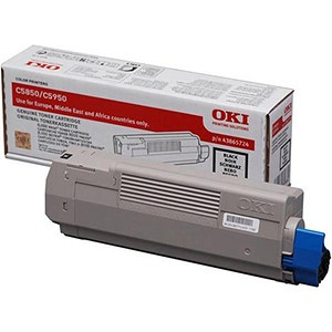 Image of Oki 43865724 Black Laser Toner Cartridge