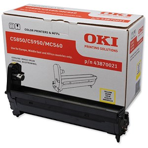 Image of Oki 43870021 Yellow Laser Drum Unit