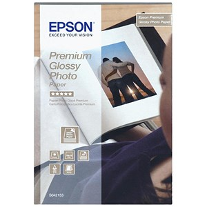 Image of Epson Premium Glossy Photo Paper / 100mm x 150mm / White / 255gsm / Pack of 40