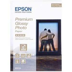 Image of Epson Premium Glossy Photo Paper / 130 x 180mm / White / 255gsm / Pack of 30