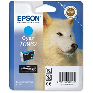 Image of Epson T0962 Cyan UltraChrome K3 Inkjet Cartridge
