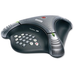 Image of Polycom Voicestation 300 Conference Phone Unit Dynamic Noise Reduction 3 Microphones Ref 30149