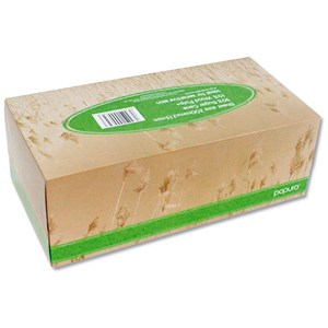 Image of Papura Facial Tissues from Sugar Cane / Chlorine Bleach-Free / 3-Ply / 100 Sheets
