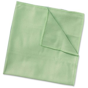Image of Wypall Microfibre Cleaning Cloths for Dry or Damp Multisurface / Green / Pack of 6