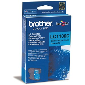 Image of Brother LC1100C Cyan Inkjet Cartridge