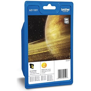 Image of Brother LC1100HYY High Yield Yellow Inkjet Cartridge