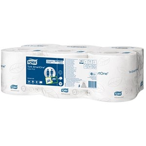 Image of Tork SmartOne Toilet Roll / 2-Ply / White / 6 Rolls of 1150 Sheets
