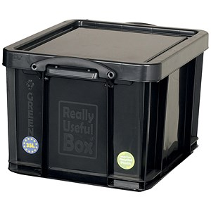 Image of Really Useful Storage Box / Black Plastic / 35 Litre