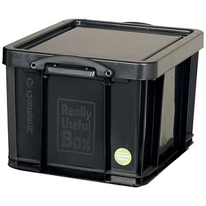 Image of Really Useful Storage Box - Black Plastic - 42 Litre