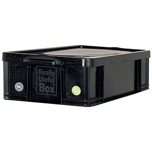 Image of 50 Litre Really Useful Storage Box - Black Strong Plastic