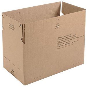Image of Maxi Plus Storage and Removals Box / 650x350x370mm / Brown / Pack of 10