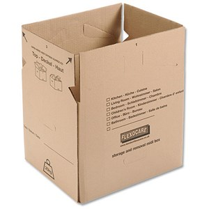 Image of Small Storage and Removals Box / 400x320x330mm / Brown / Pack of 10