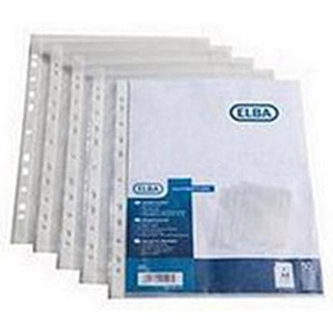 Image of Elba Multipunched Pockets / Polypropylene / Top-opening / A5 Portrait / Clear / Pack of 100