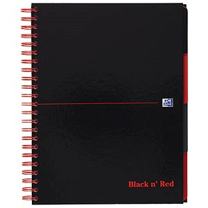 Image of Black n' Red Project Book / A4 / 200 Pages / Pack of 3