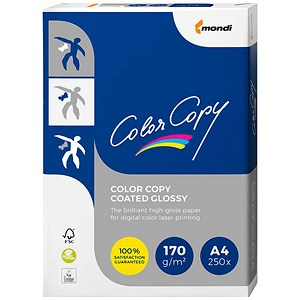 Image of Color Copy A4 Colour Laser Glossy Coated Paper / White / 170gsm / 250 Sheets